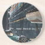 RMS Titanic Launching of the Lifeboats Vintage Drink Coaster
