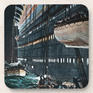 RMS Titanic Launching of the Lifeboats Vintage Coaster