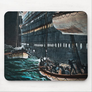 RMS Titanic Launching of the Lifeboats Vintage Mousepad