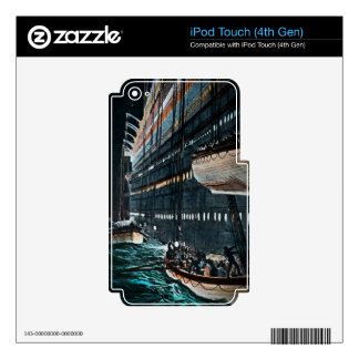 RMS Titanic Launching of the Lifeboats Vintage iPod Touch 4G Skin