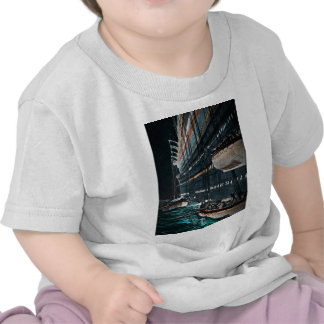 RMS Titanic Launching of the Lifeboats Vintage T Shirt