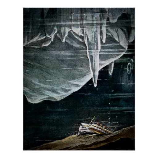 RMS Titanic Lies at the Bottom of the Atlantic Poster