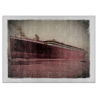 RMS Titanic Maiden Voyage Cutting Board