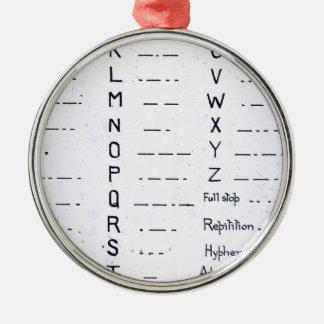 RMS Titanic Morse Code Vintage S.O.S. Metal Ornament