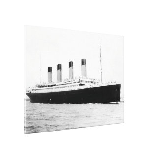 RMS Titanic Passenger Liner Stretched Canvas Print
