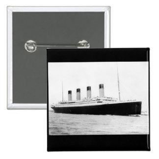 RMS Titanic Passenger Liner Pinback Button