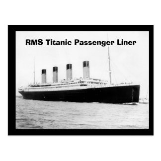 RMS Titanic Passenger Liner Post Card