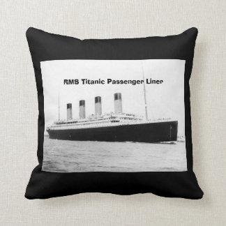 RMS Titanic Passenger Liner Throw Pillow