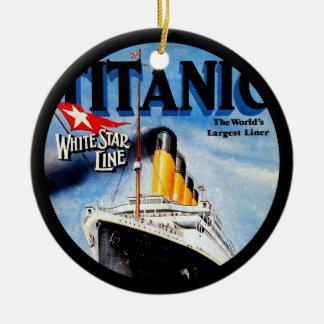 RMS Titanic Poster Art Ceramic Ornament