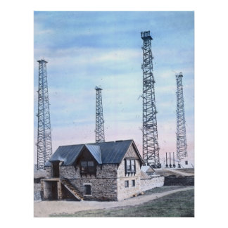 RMS Titanic Series Radio Station and Masts Poster