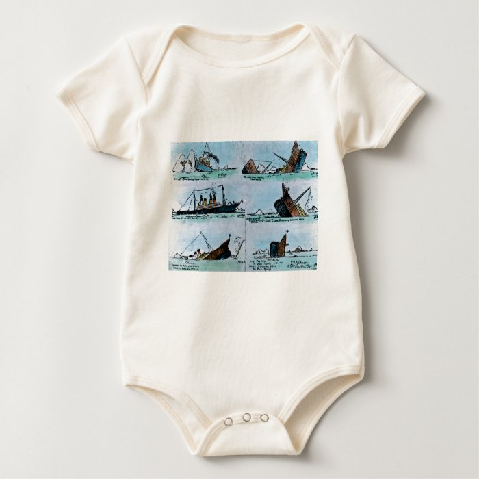 RMS Titanic Sinking Magic Lantern Slide Baby Bodysuit