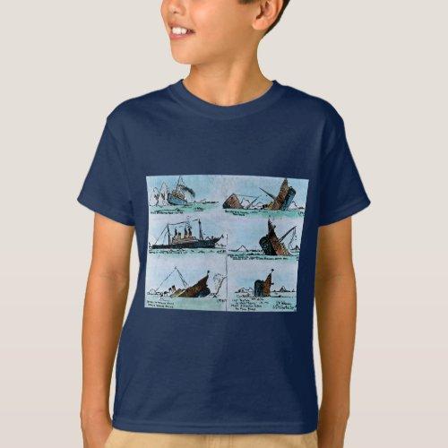 RMS Titanic Sinking Magic Lantern Slide History T_Shirt
