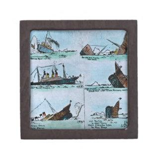 RMS Titanic Sinking Magic Lantern Slide Jewelry Box