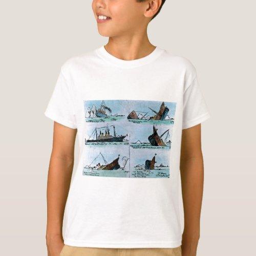 RMS Titanic Sinking Magic Lantern Slide T_Shirt