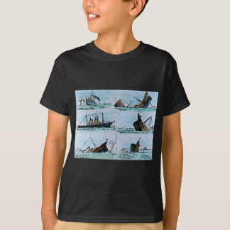 RMS Titanic Sinking Magic Lantern Slide Vintage T-Shirt
