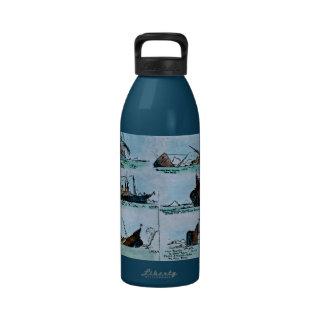 RMS Titanic Sinking Magic Lantern Slide Drinking Bottle
