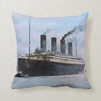 RMS Titanic Southampton Maiden Voyage Vintage 1912 Throw Pillow