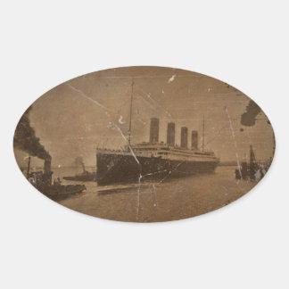 RMS Titanic Southampton Oval Sticker