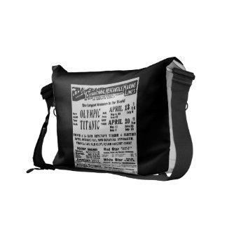 RMS TITANIC Steam Ship Commemorative Bag Courier Bags