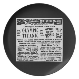 RMS TITANIC Steam Ship Commemorative Plate
