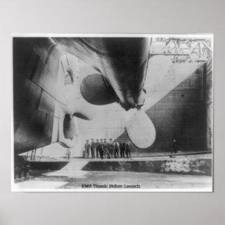 RMS Titanic - Steamship Before Launch Print