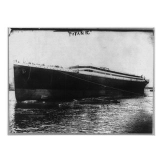 RMS Titanic - Steamship Hull Launched Print