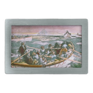 RMS Titanic Survivors in Lifeboats Next Morning Belt Buckle