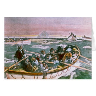 RMS Titanic Survivors in Lifeboats Next Morning Card