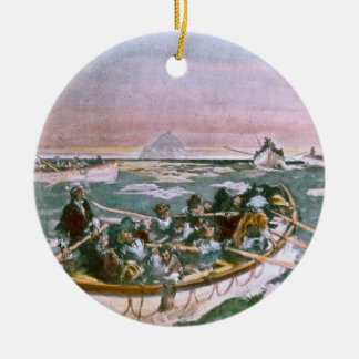 RMS Titanic Survivors in Lifeboats Next Morning Ceramic Ornament