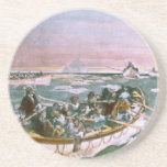 RMS Titanic Survivors in Lifeboats Next Morning Beverage Coasters