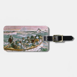 RMS Titanic Survivors in Lifeboats Next Morning Luggage Tag