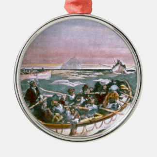 RMS Titanic Survivors in Lifeboats Next Morning Metal Ornament
