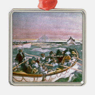 RMS Titanic Survivors in Lifeboats Next Morning Christmas Ornament