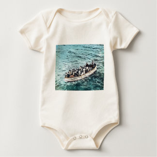RMS Titanic Survivors in Lifeboats Vintage Baby Creeper