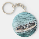 RMS Titanic Survivors in Lifeboats Vintage Basic Round Button Keychain