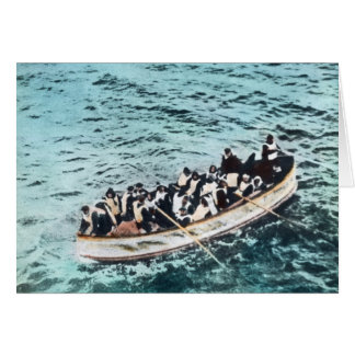 RMS Titanic Survivors in Lifeboats Vintage Card