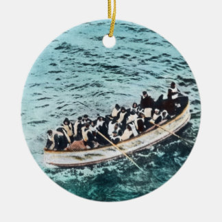 RMS Titanic Survivors in Lifeboats Vintage Ceramic Ornament