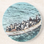 RMS Titanic Survivors in Lifeboats Vintage Coaster