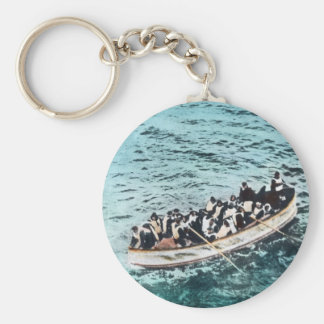 RMS Titanic Survivors in Lifeboats Vintage Keychain