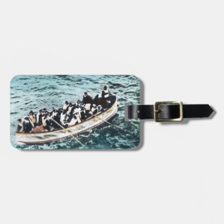 RMS Titanic Survivors in Lifeboats Vintage Luggage Tag