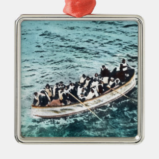 RMS Titanic Survivors in Lifeboats Vintage Metal Ornament
