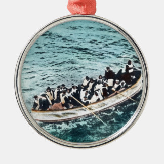 RMS Titanic Survivors in Lifeboats Vintage Christmas Ornament