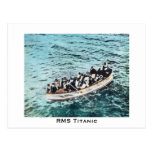 RMS Titanic Survivors in Lifeboats Vintage Post Cards