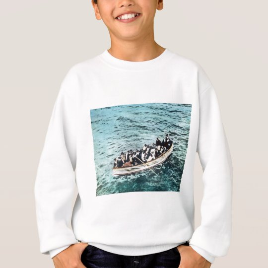 RMS Titanic Survivors in Lifeboats Vintage Sweatshirt
