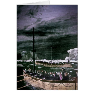 RMS Titanic Survivors in the Lifeboats Vintage Card