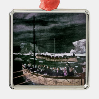 RMS Titanic Survivors in the Lifeboats Vintage Metal Ornament