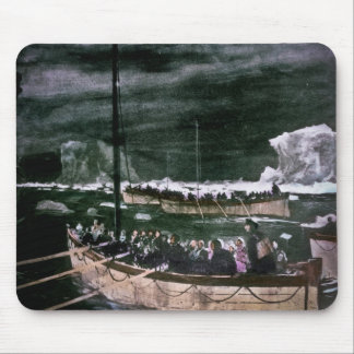 RMS Titanic Survivors in the Lifeboats Vintage Mouse Pad