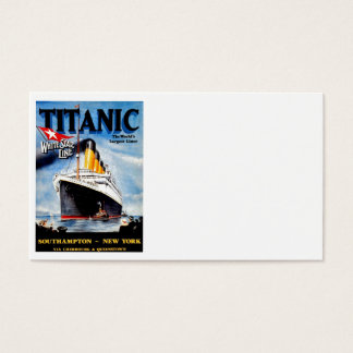RMS Titanic Travel Ad Business Card