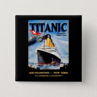 RMS Titanic Travel Ad Button