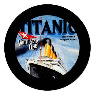 RMS Titanic Travel Ad Card